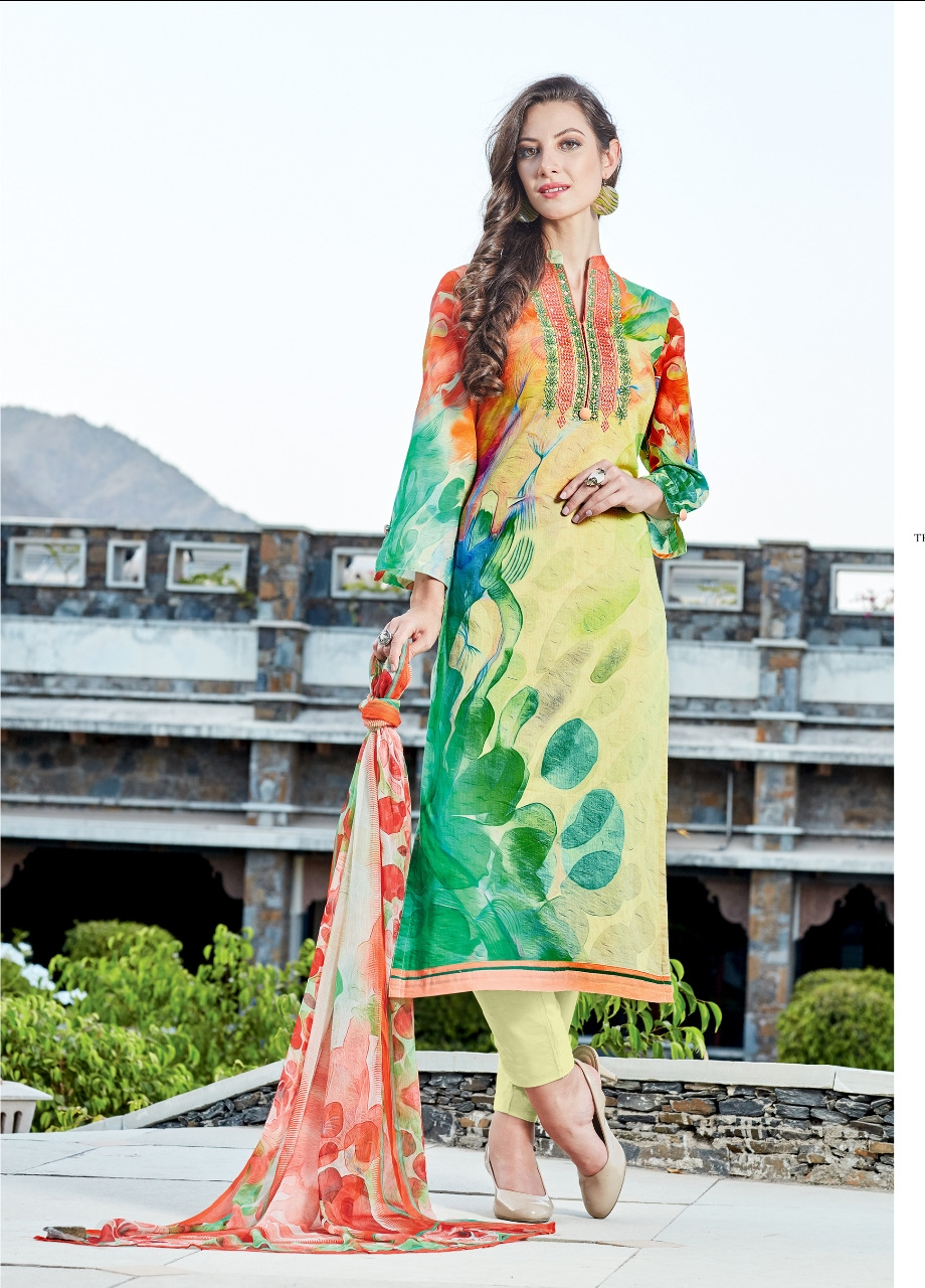 La vero moda the lawn collection chiffon dupatta Salwar Kameez catalog