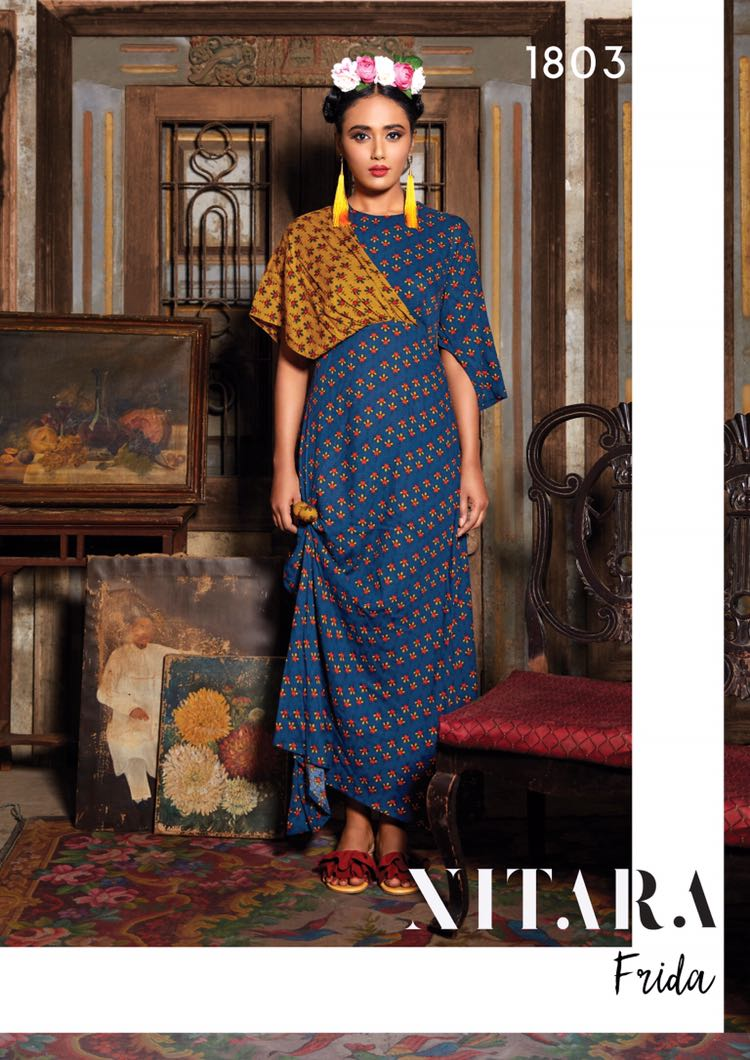 Nitara frida printed rayon Kurties collection