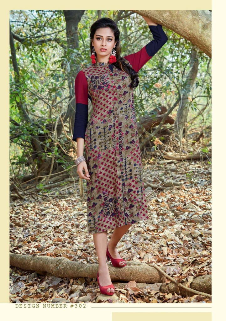 Indola design's urvi designer kurties Catalog Dealer