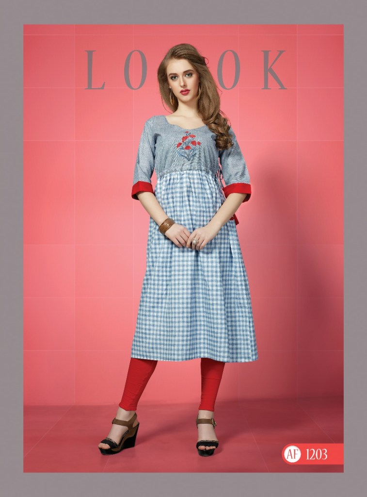 arena fashion presents checkered concept of cotton weave checks kurtis