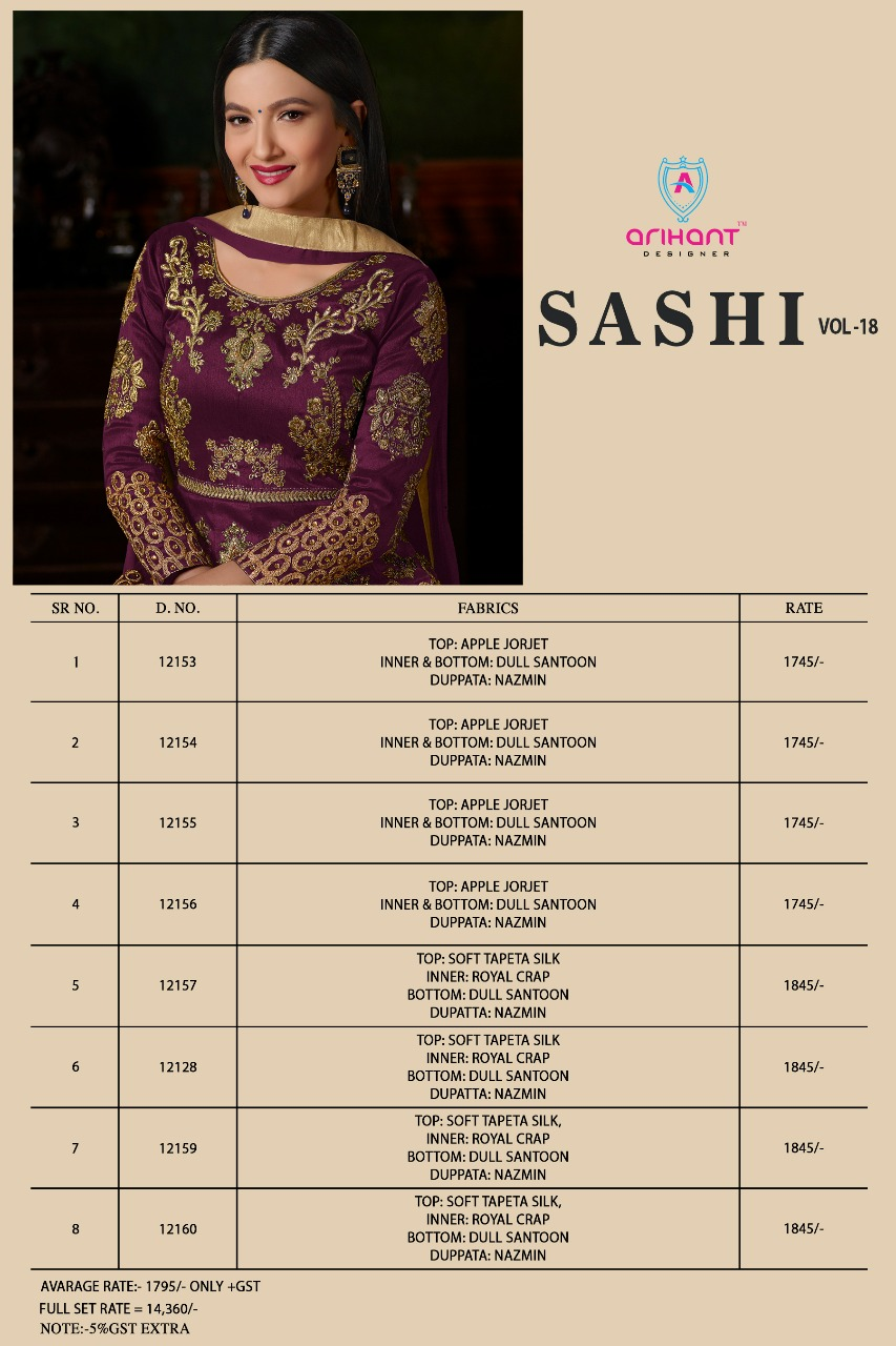 d093473f16 Arihant designer presents sashi vol 18 ramzan special Designer collection  of gowns