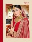 Saroj brings sapphire designer saree with blouse