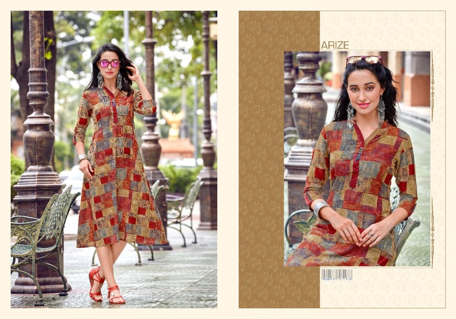 Arize presents masakalli casual summer wear kurtis