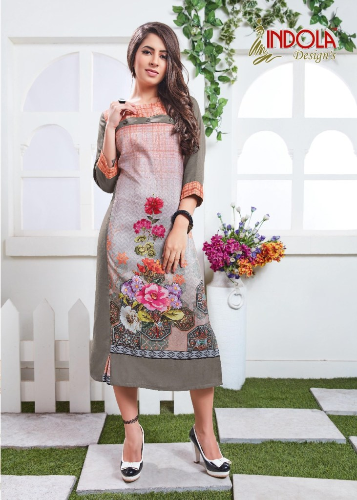 Indola design's presents shades Exclusive collection of kurtis