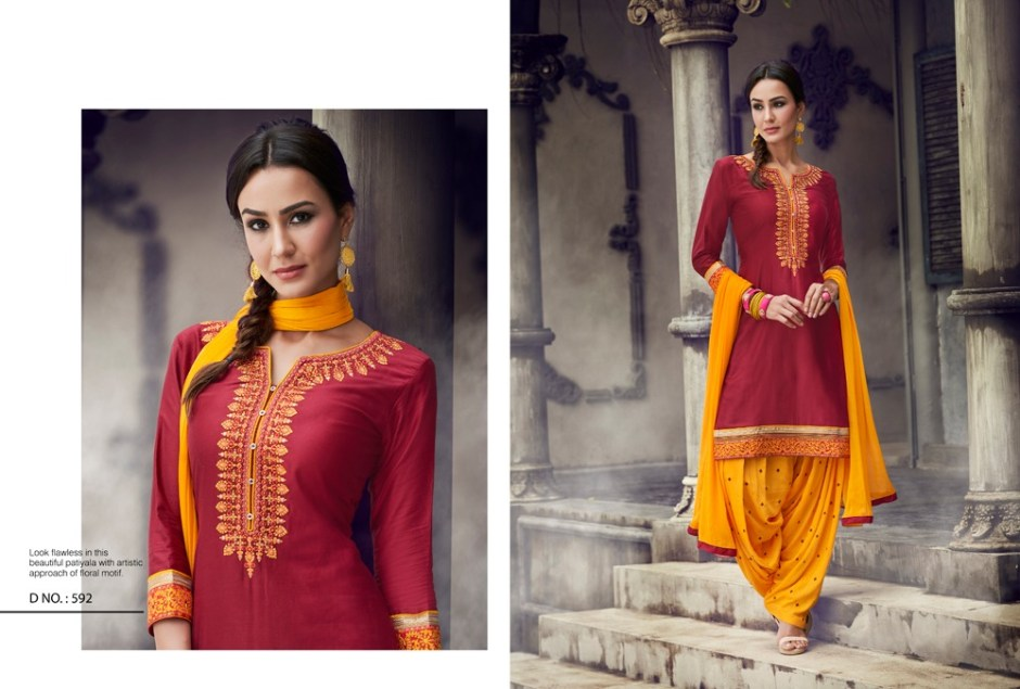 Kajree fashion presenting fashion of patiala vol 19  fancy concept of top kurti with patiala