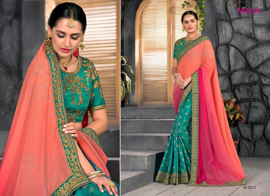 Mizzoil presents M2001-M2012 fabulous bridal saree collection