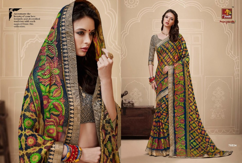 Priya paridhi presents ahiri brasso Fancy concept of sarees