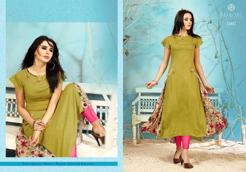 So And Me designer presenting Pink fancy collection of kurtis