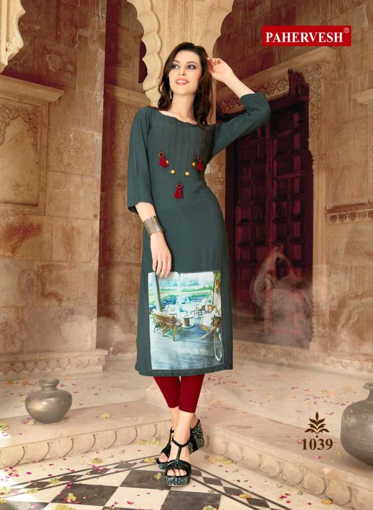 Pahervesh presents Nikhar vol 1 casual ready to wear kurtis concept