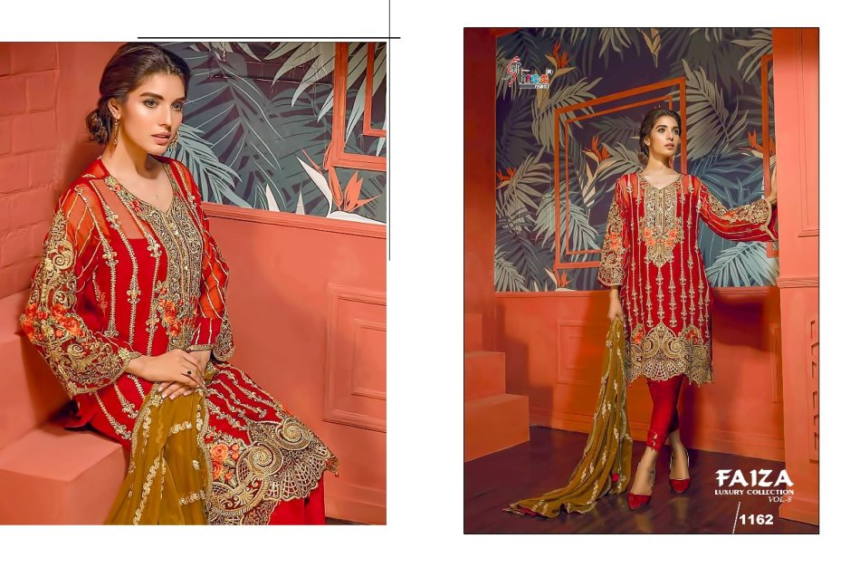 Shree fabs presents faiza luxury collection vol 8 Fancy concept  of salwar kameez