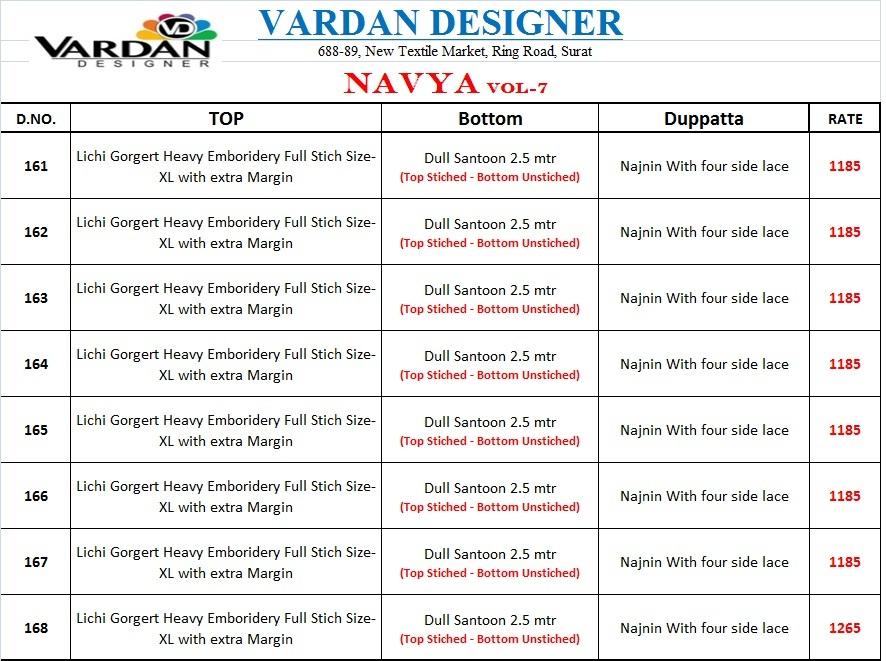 Vardan designer presenting navya vol 7 beautiful party wear gown concept