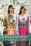 Ibaadat presents sana safeena original digital printed beautiful collection of kurtis