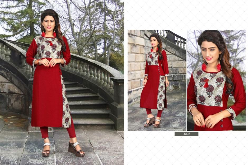 Kainaat presents kainaat vol 3 casual ready to wear kurtis concept