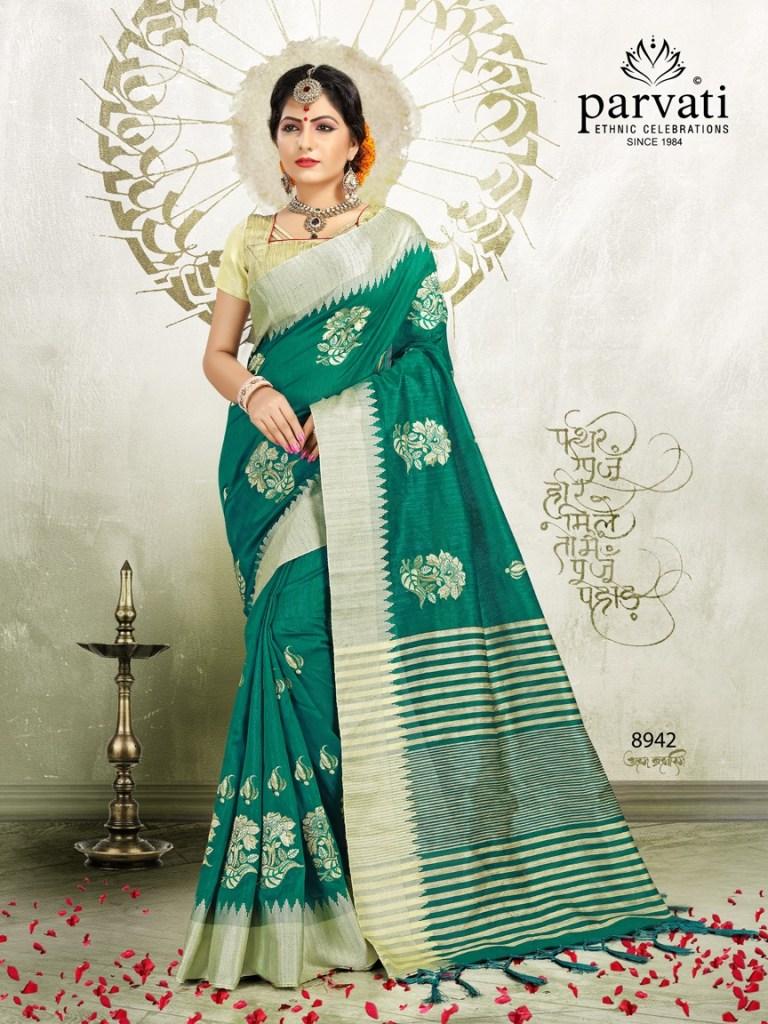 Parvati presenting cotton fiesta vol 3 beautiful Rich look sarees collection