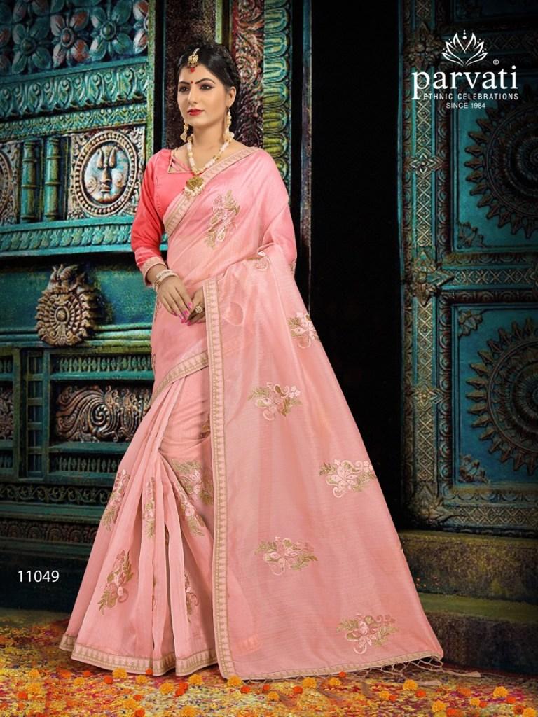 Parvati presenting organza mania vol 1 exclusive trendy look sarees collection