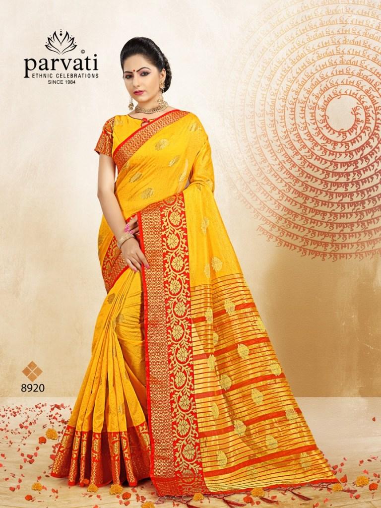Parvati presents silk fusion vol 8 stylish silk sarees collection