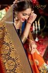 Saroj presenting semi casual rich look weaving silk sarees collection