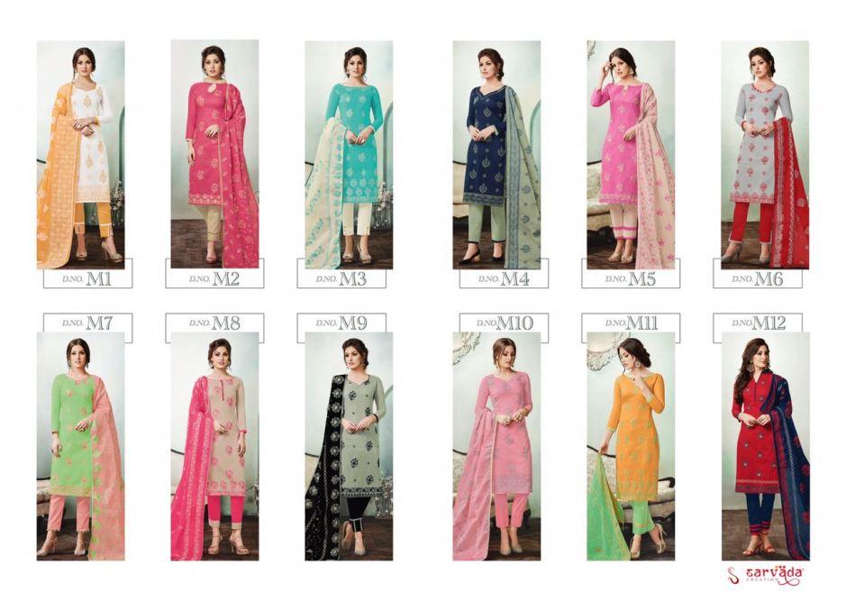 sarvada creation presenting mulmul beautiful casual wear collection of salwar kameez