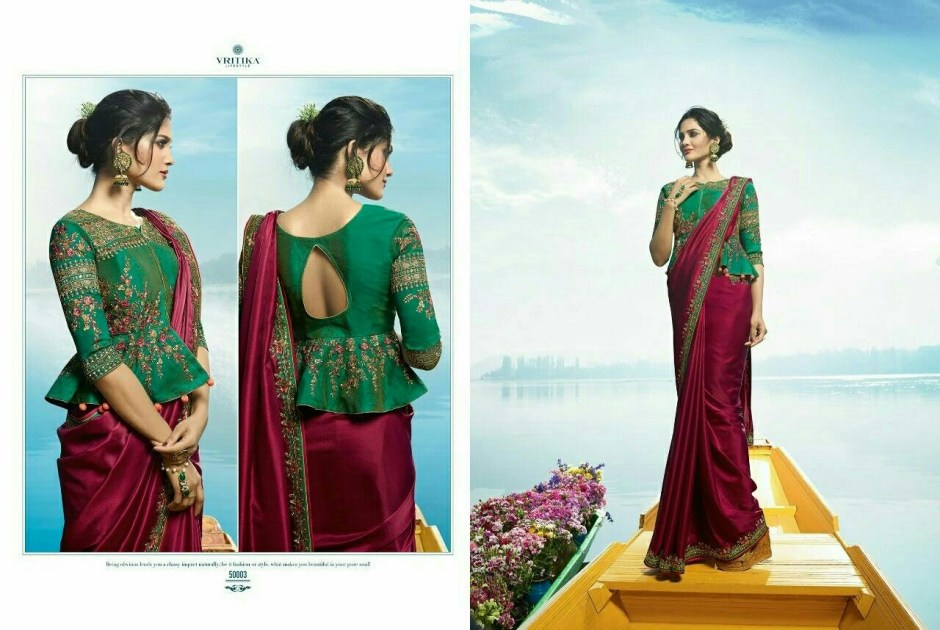 vritika lifestyle presents sneh party wear collection of sarees
