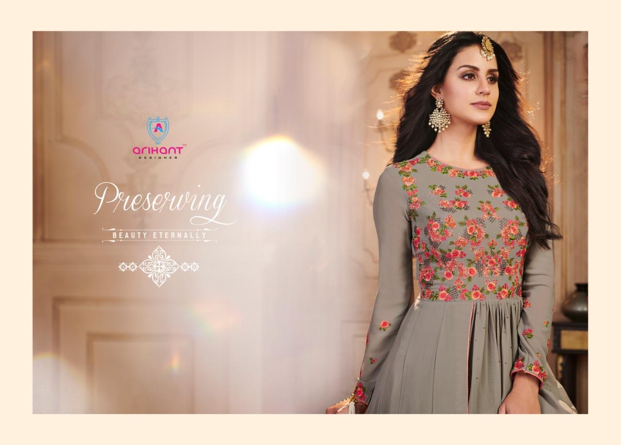 Arihant designer paniksha designer party wear gown style long salwar ...