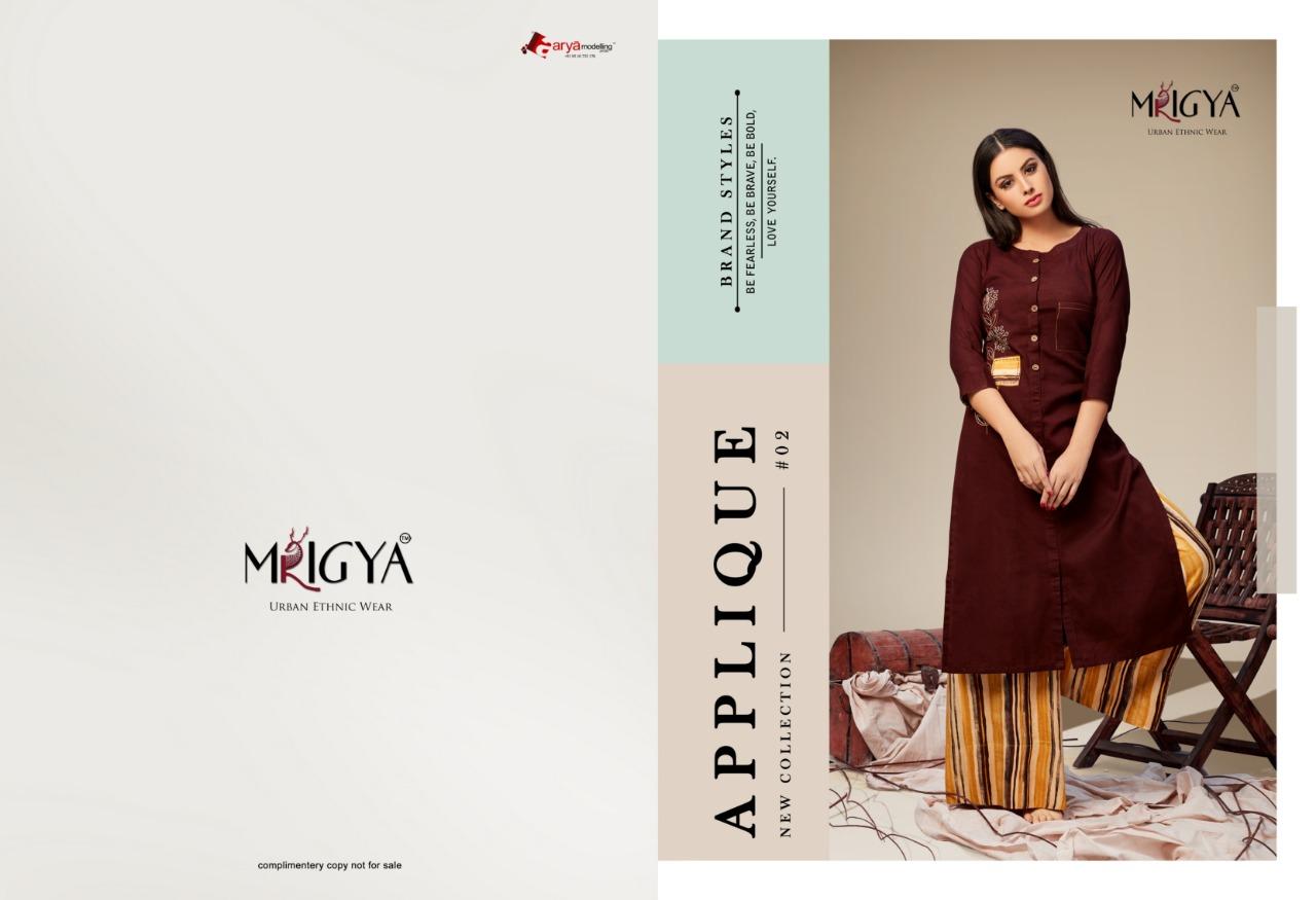 Mrigya presents applique 2 decent casual collection of kurtis
