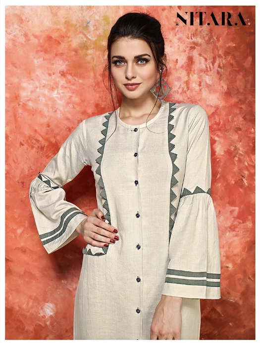 Nitara colors casual Wear with different patterns concept of kurtis