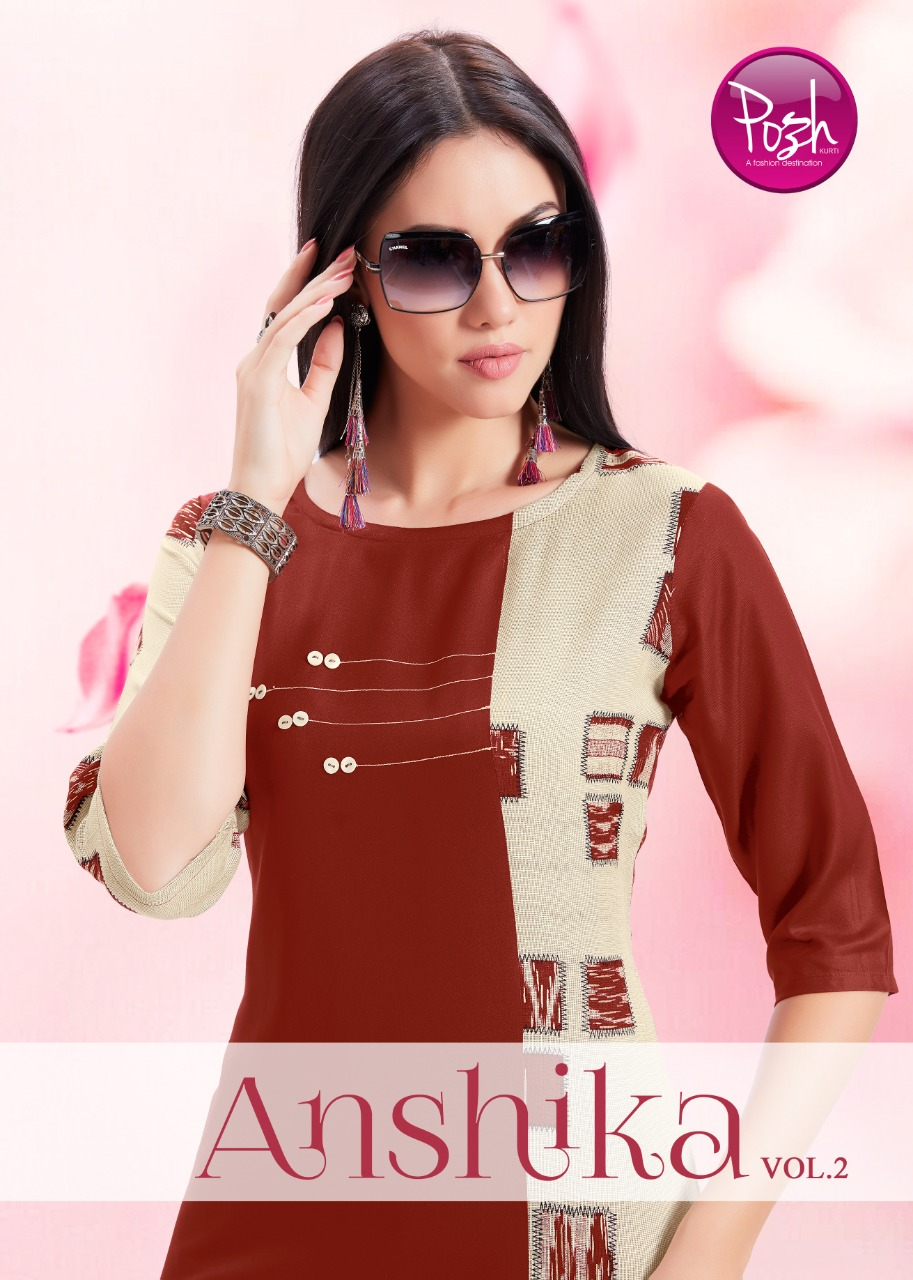 Posh anshika vol 2 casual ready to wear kurtis collection