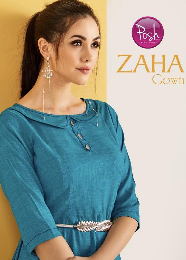 Posh Zaha gown designer ethnic gown concept