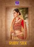 Shangrila ruby silk ethnic innovative designer wear Heavy concept sarees