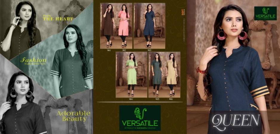 Versatile queen casual ready to wear kurtis concept