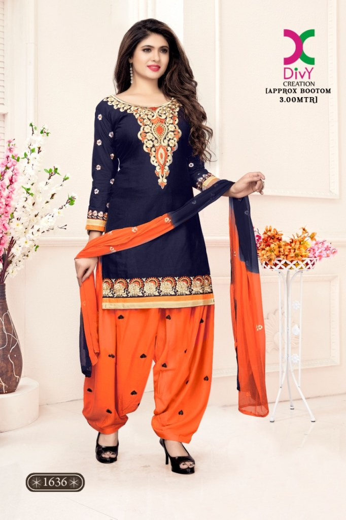 DIVY creation patiala vol 1 Casual daily wear Salwar kameez collection