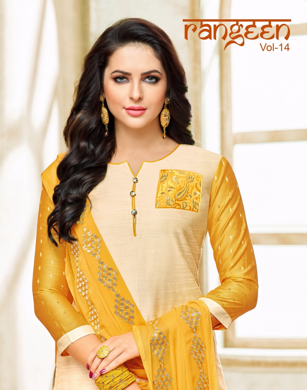 Kapil trendz rangeen vol 14 casual daily wear salwar kameez collection