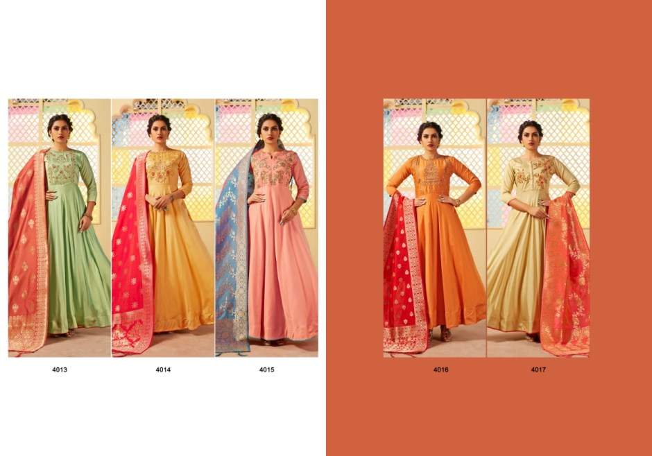 Mrigya presenting swarna 2 Ethinc festive collection of Gowns