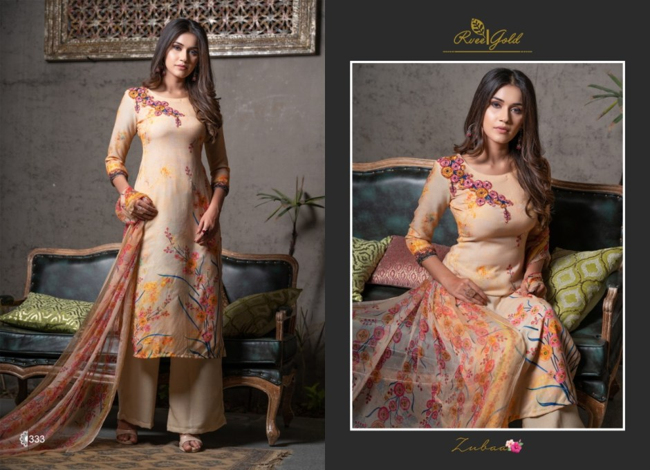 Rvee gold zubaa Salwar Kameez Collection online wholsaler rates