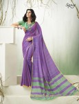 Saroj presenting mulberry simple casual trendy look sarees collection