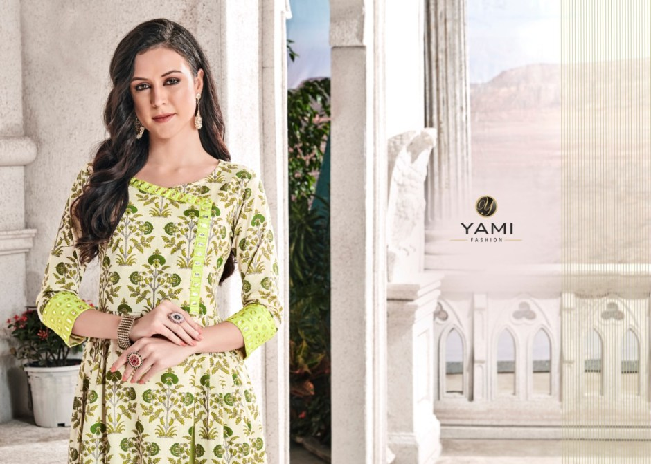 Yami fashion presents vEDIKA casual trendy look kurtis collection