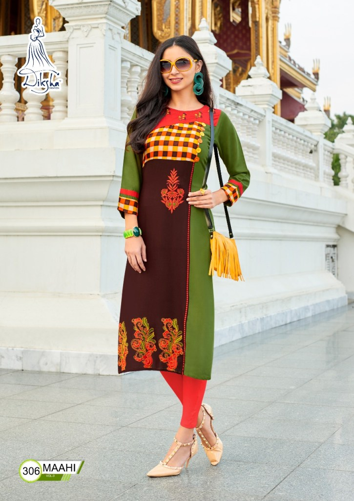 Diksha fashion maahi vol 3 casual ready to wear kurtis concept