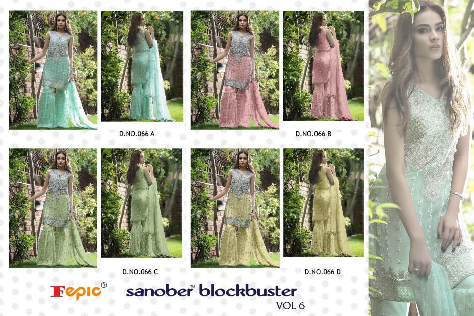 FEPIC presenrs sanober blockbuster vol 6 beautiful fancy collection of salwar kameez