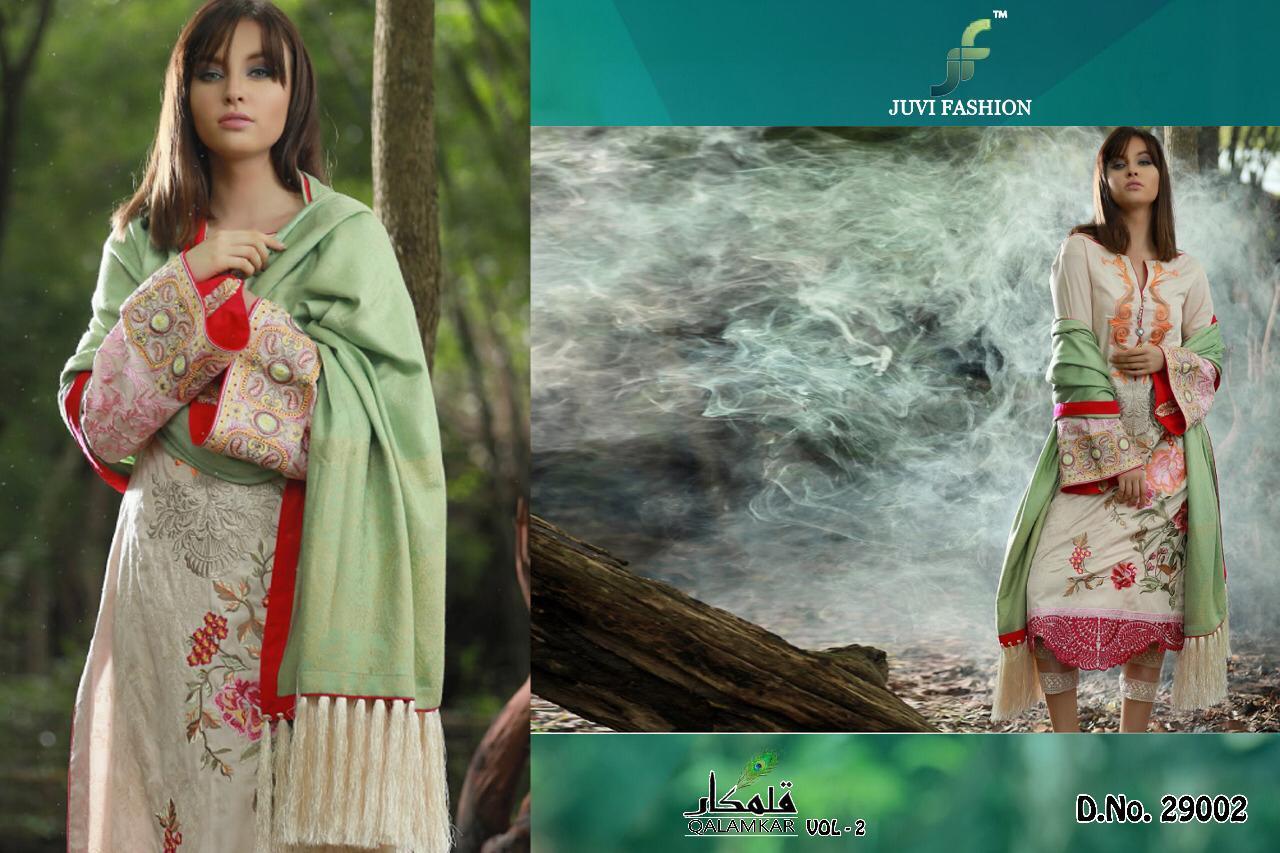 ff6d405b43 JUVI fashion presents Qalamkar vol 2 beautiful collection Of salwar kameez