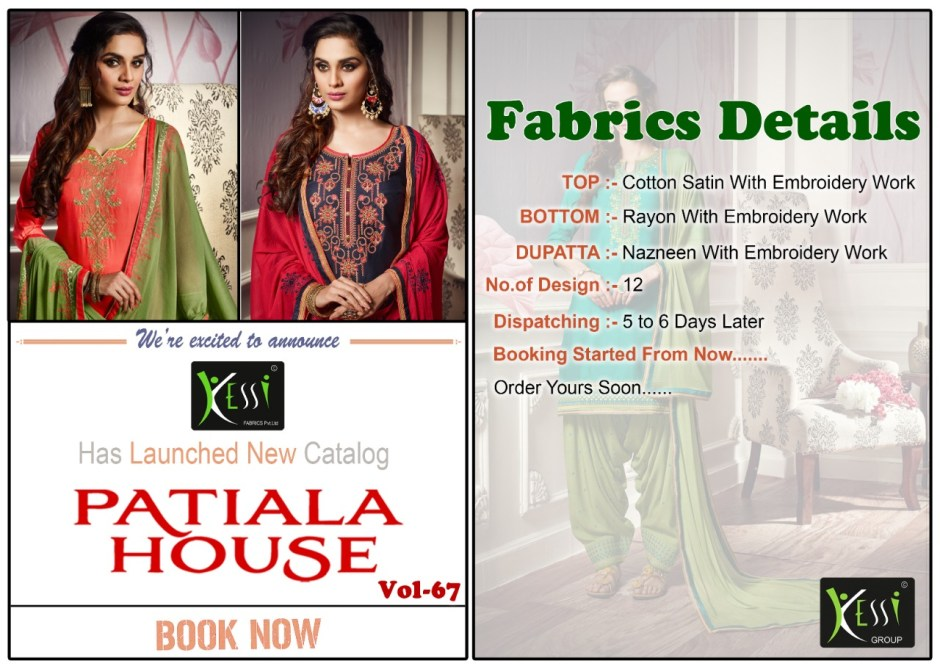 Kessi fabrics Patiala house vol 67 simple casual embroidered salwar kameez collection