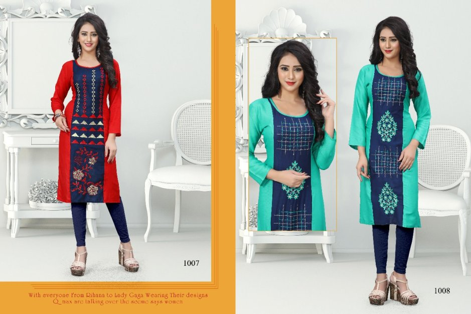 Poorvi designer sanjana vol 1 ready to wear kurtis collection