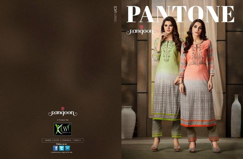 Rangoon presenting pantone Simple elegant look ready made salwar kameez collection