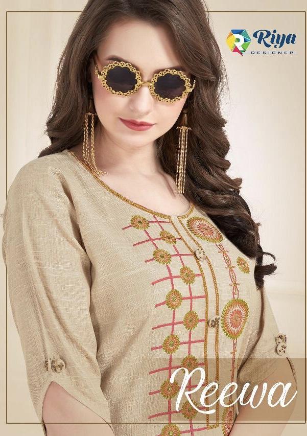 Riya designer Presenting reewa ready to wear kurtis concept