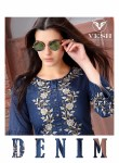 Vesh denim stylish ready to wear Kurtis concept