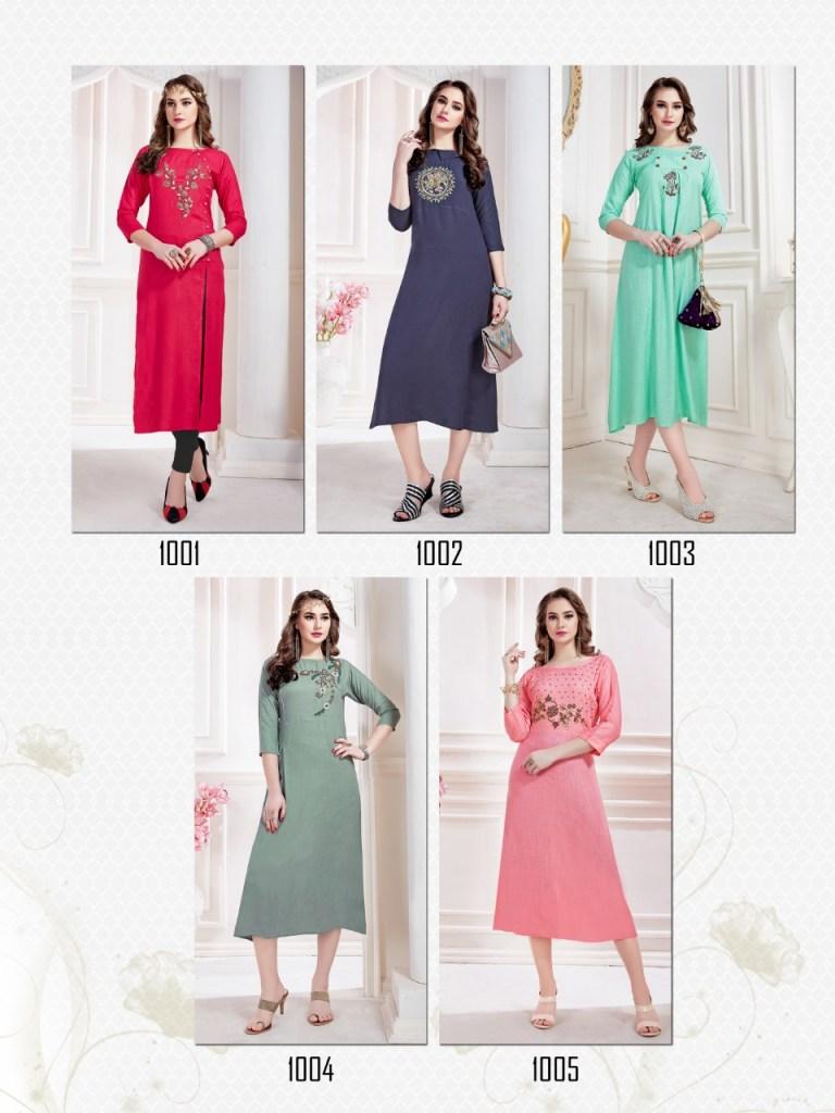 Amber launch seasons stylish party wear kurtis collection