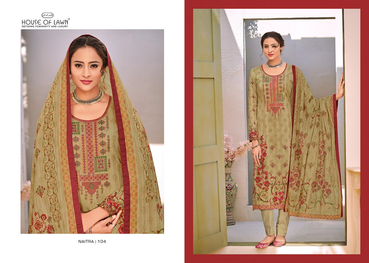 ebe7b6bfc6 House of lawn naitra designer Pakistani suits collection wholesaler
