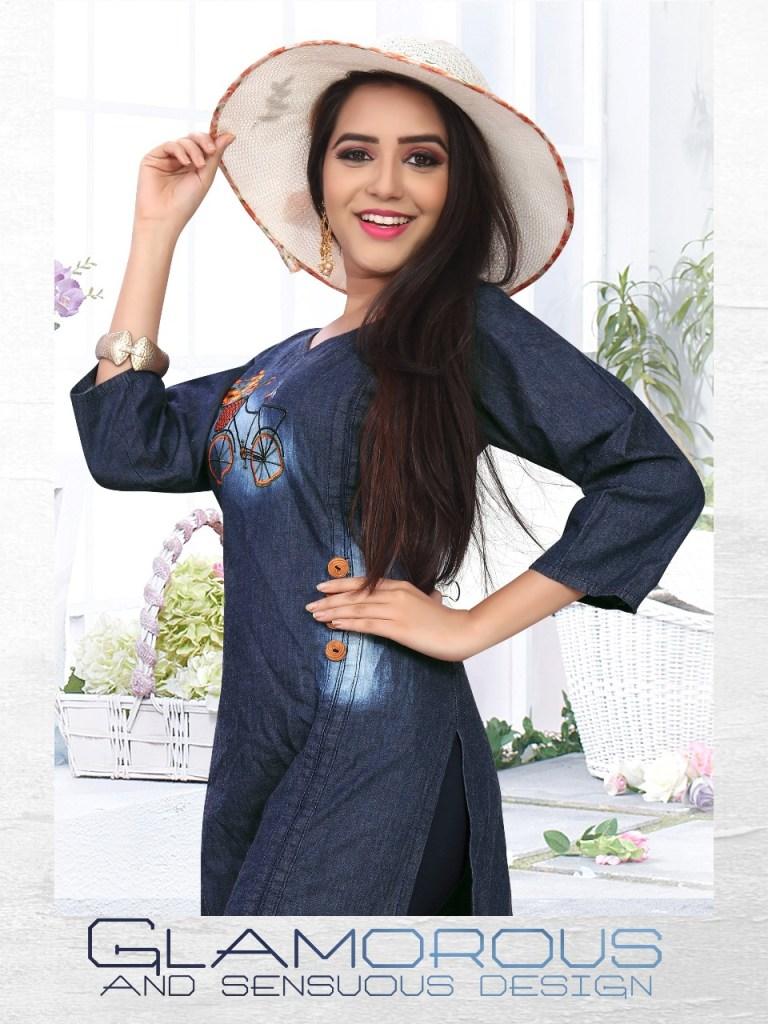 Liyaz creation dhadak ready To Wear denim Kurties Collection