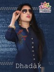 Liyaz creation dhadak ready To Wear denim Kurties Collection