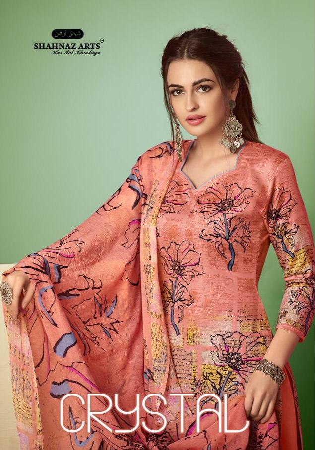 205046236b Shahnaz Arts crystal colourful digital printed Salwar kameez Collection