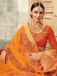 Shangrila farmaish occasional Wear Colourful sarees Collection